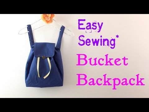 **DIY**How to make Buket Backpack.** Easy Tutorial.**