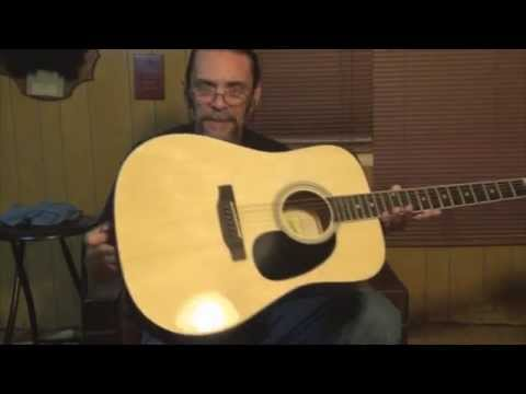 Savannah SGD-12-NA acoustic guitar setup, how to measure for EXACT saddle height and a demo