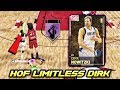 PINK DIAMOND THROWBACK DIRK NOWITZKI HOF LIMITLESS RANGE NBA 2K19 MyTEAM GAMEPLAY