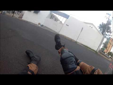 Policiais militares motociclistas se acidentam