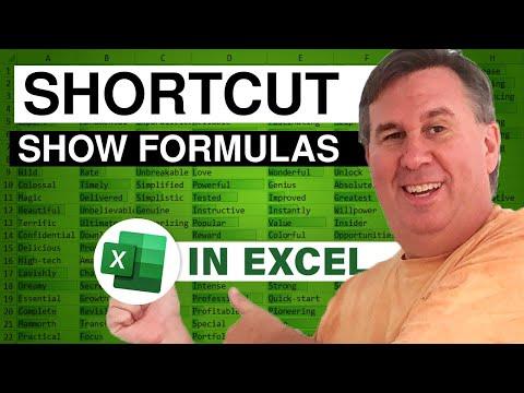 Excel Shortcuts - Show Formulas - Podcast 2129