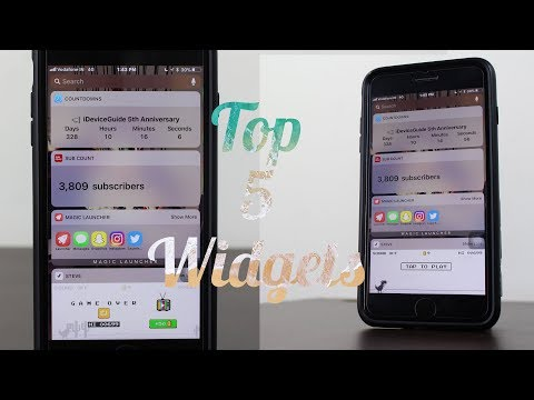 Top 5 Must Have Widgets for iPhone - iOS 11