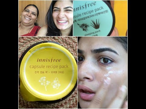 INNISFREE CAPSULE RECIPE PACK CANOLA HONEY RS 150 ?! WORTH THE HYPE ? WORKS 100 %