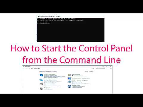 How to Start the Control Panel from the Command Line