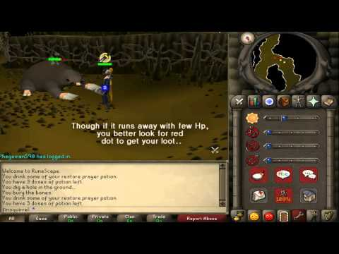 Runescape 2007 - Mole skins and claws with commentary