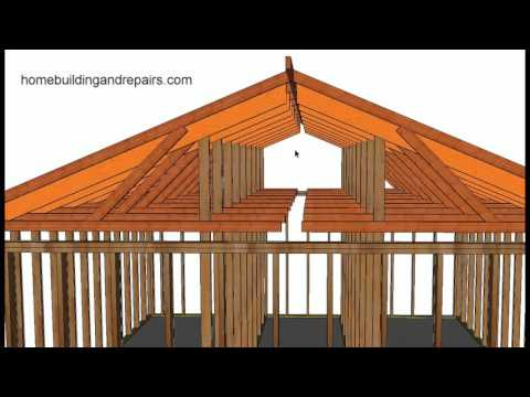 How To Convert Existing Truss Roof Flat Ceiling To Vaulted Ceiling Using Rafters, Post and Beam