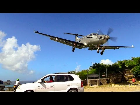 Stunning Video From Both The Cockpit & The airfield St  Barth