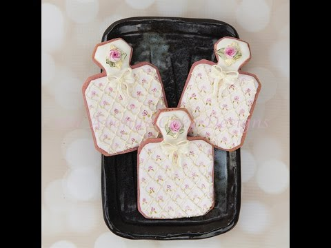 How to Decorate Perfume Bottle Cookies with  Dimensional Bows