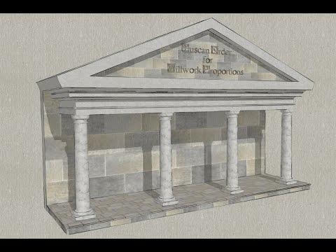 Making Tuscan Order Dimension Calculations using SketchUp