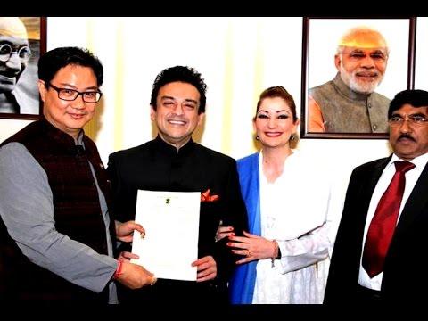 Singer Adnan Sami receives Indian citizenship certificate