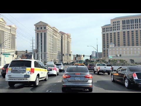 Driving Downtown 4K - Las Vegas Strip #2 - USA