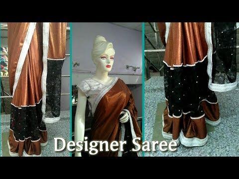 How to make designer saree | Make designer party wear saree | different saree