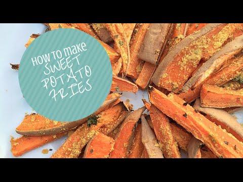 HOW TO MAKE HEALTHY SWEET POTATO FRIES (OIL FREE, VEGAN)