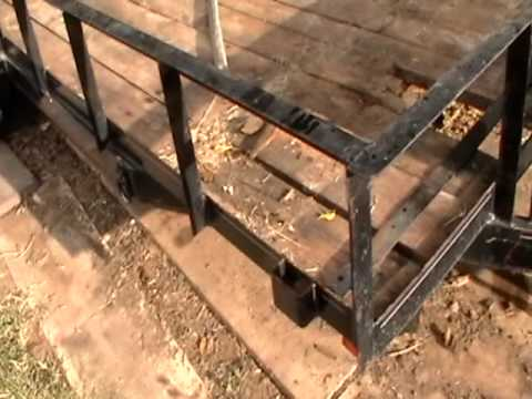 Reflooring or Redecking Utility Trailer Bed
