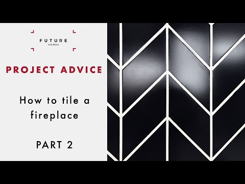 How to tile a fireplace: laying tiles