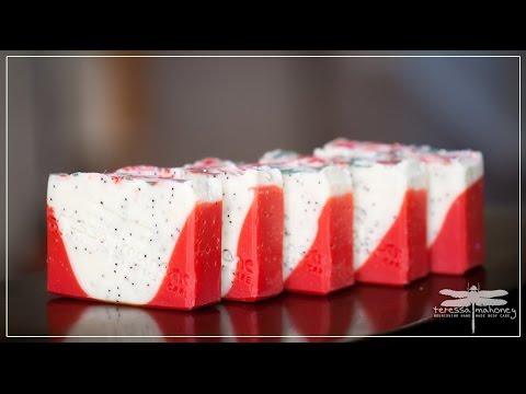 Making Dragon Fruit Soap