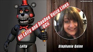 All Lefty And DeeDee Voice Lines & Voice Actor - FNAF Ultimate Custom Night
