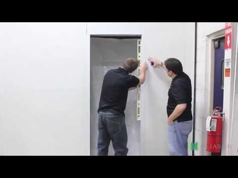 How to install an Eliason Swing Cooler Door