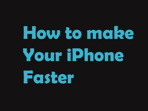 How to Make your iPhone FASTER! [Jailbreak Needed]