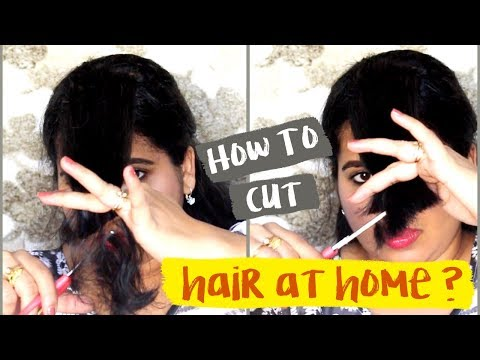 HOW TO CUT YOUR OWN HAIR AT HOME ? Cut Perfect Side Swept Bangs Step By Step