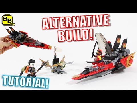 LEGO NINJAGO 70650 ALTERNATIVE BUILD KAI'S FIRE-ROCKET!