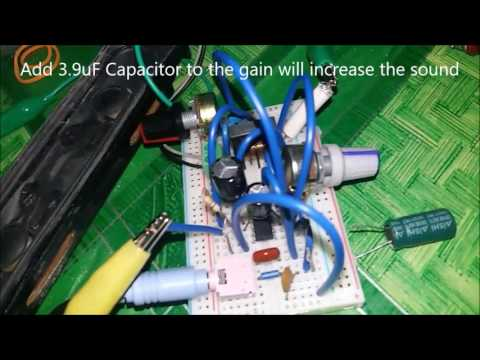 How to make mini audio amplifier - LM386
