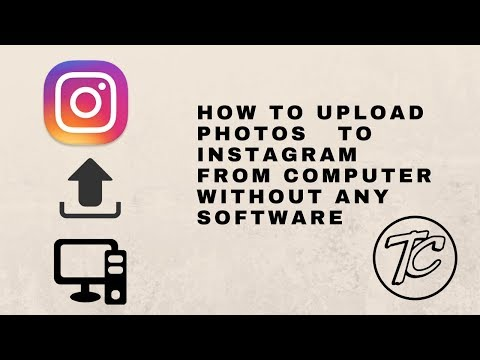 HOW TO UPLOAD PHOTOS TO INSTAGRAM FROM COMPUTER WITHOUT ANY SOFTWARE  - TECH CLANS