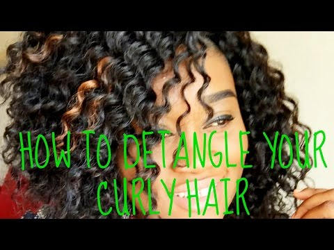 How to detangle synthetic curly  hair