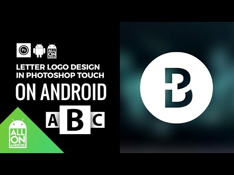 How to make letter logo B on Android   Photoshop Touch