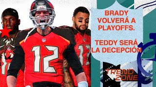 Brady irá a Playoffs con Buccaneers | Bridgewater fracasará en Panthers | Mariota será súper banca
