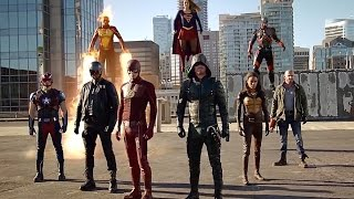 DC Comics TV Crossover Final Fight. Flash, Supergirl, Arrow, Firestorm, Atom against the Dominators