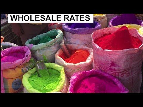 Cheapest Holi Market[Exploring- Gulal, Colour, Pichkari, Balloon] | Chandni Chowk | DELHI