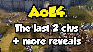 AoE4 News - The last two civs + more details