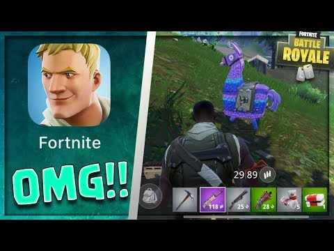 FORTNITE MOBILE is FINALLY HERE!! - FINDING A LLAMA FIRST MATCH! First Gameplay Look / Walkthrough!