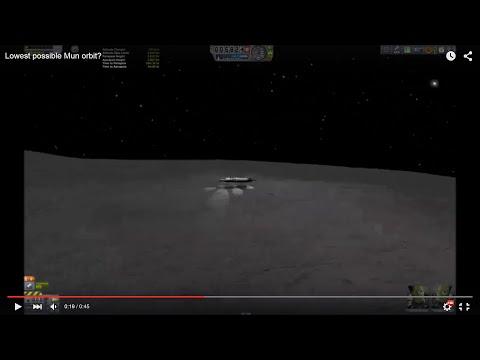 Lowest possible Mun orbit?