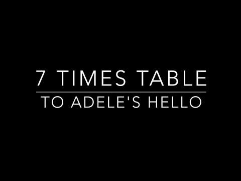 7 times table set to Adele's Hello