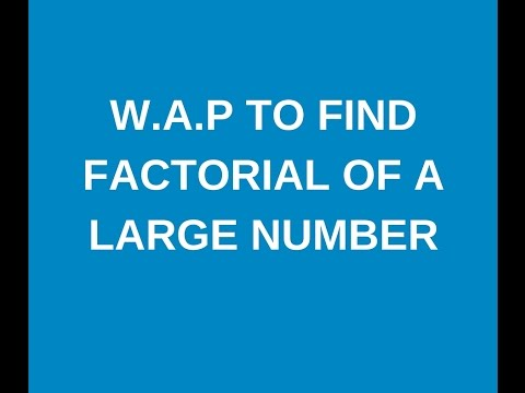 Write a java program to find factorial for large number?