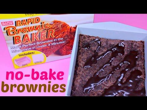 DIY Brownies in 3 MINS 30 secs! Worl'ds Fastest Brownie Maker