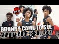 BRONNY CAME TO WATCH THE Sharife Cooper SHOW Vs WOODZ ELITE