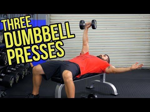 Target INNER Pecs - 3 Flat Dumbbell Chest Exercises
