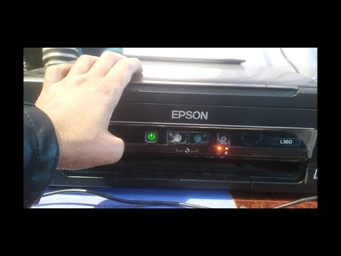 how to reset epson L110 L210 L300 L350 L355 printer ink pad is at the end of its service life