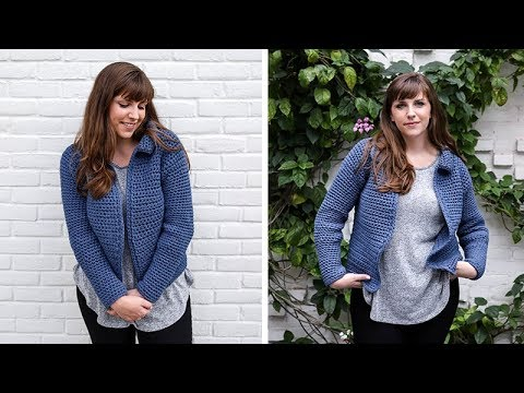 How to Crochet Jean Jacket Cardigan