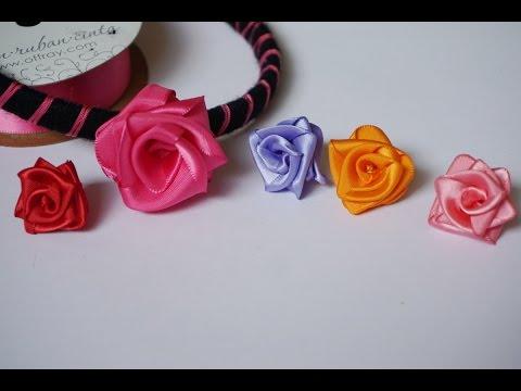 How to make a beautiful ribbon rose headband
