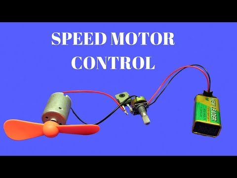 How To Make DC Motor Speed  Controller -  Simple DC Motor Speed Control circuit