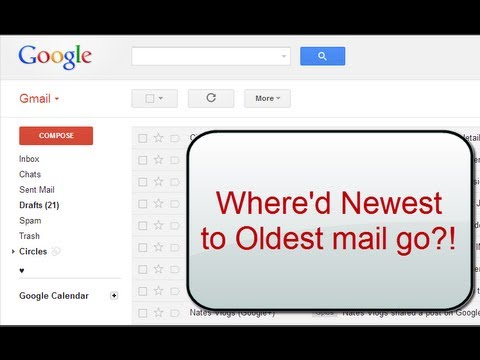 Gmail's oldest to newest messages - where did it go? #DailyTaskWizTips