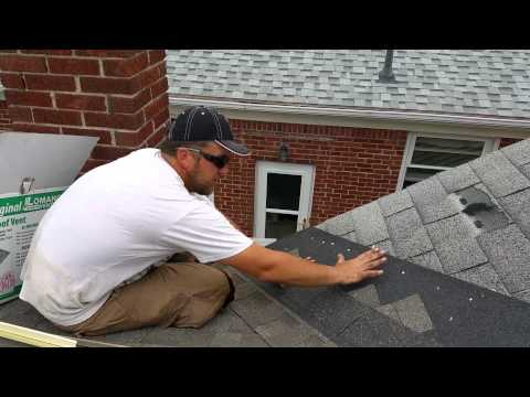 Laying a Second Layer over Existing Shingles-Close