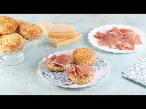 Cheese Scones Recipe with Grana Padano & Prosciutto di San Daniele (Ad)