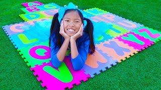 ABC Song | Wendy Pretend Play Learning Alphabet w/ Toys & Nursery Rhyme Songs