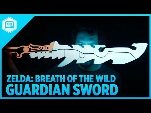 3D Printing Zelda: Breath of the Wild – Guardian Sword++ with NeoPixel LEDs