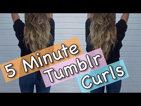 5 MINUTE TUMBLR CURLS - Ponytail Method